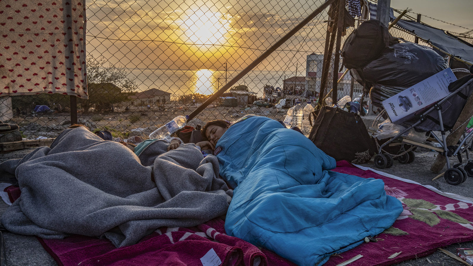 The Living Conditions For The Migrants At Lesvos