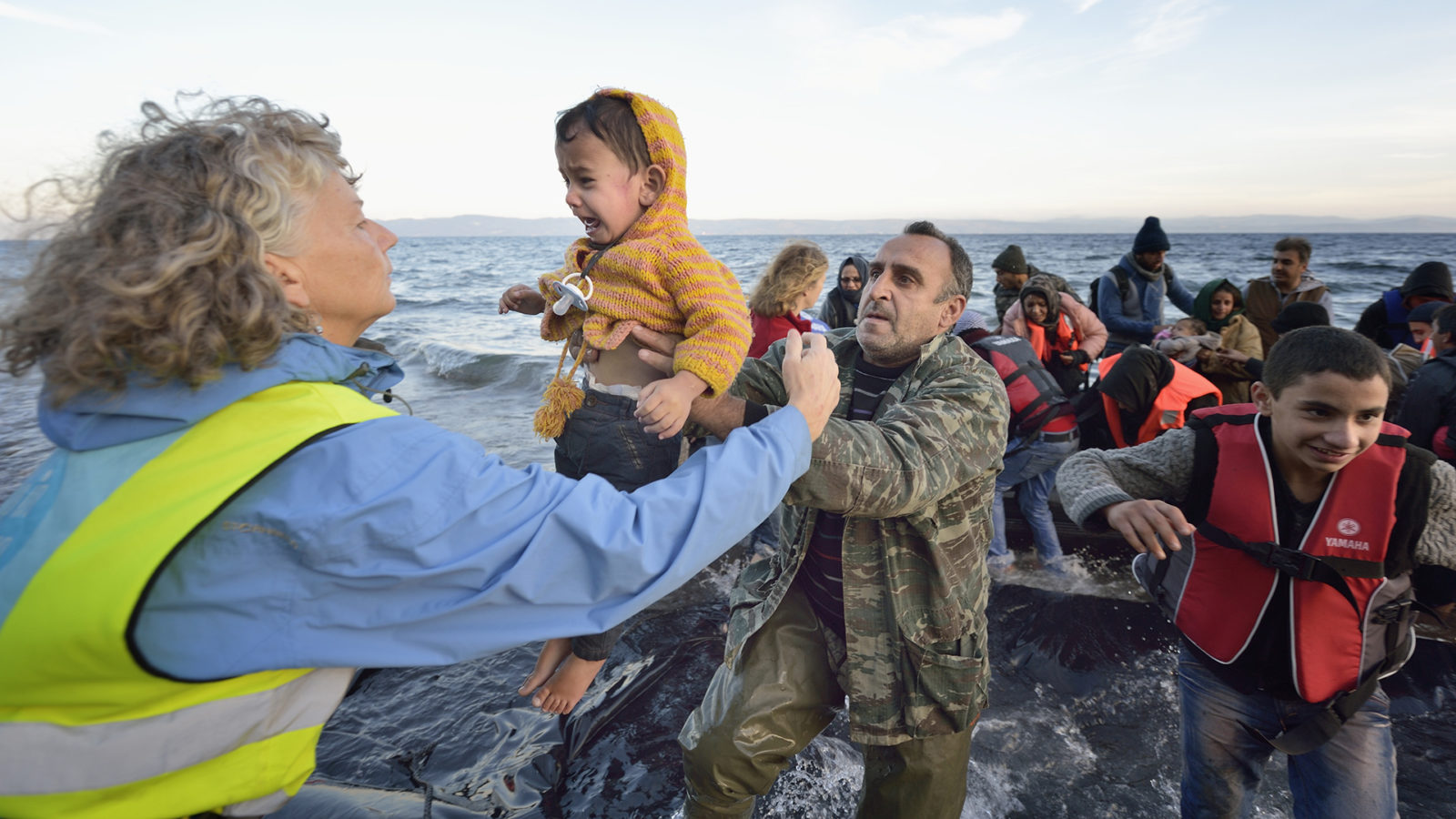 Refugees Cross Aegean Sea, Arrive On Greek Island
